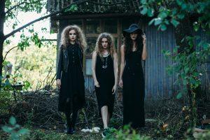 Three vintage witch go to the Sabbat